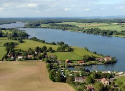 Les étangs de Vaux et Baye vus du ciel