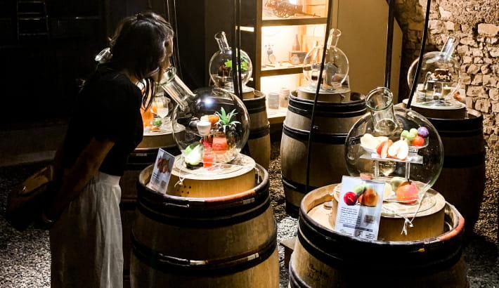 Expérience sensorielle à la cave aux arômes à Pouilly