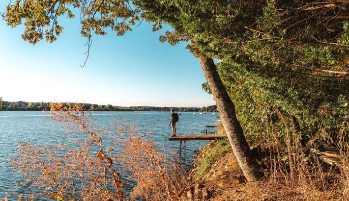 Contemplation devant l'étang de Baye