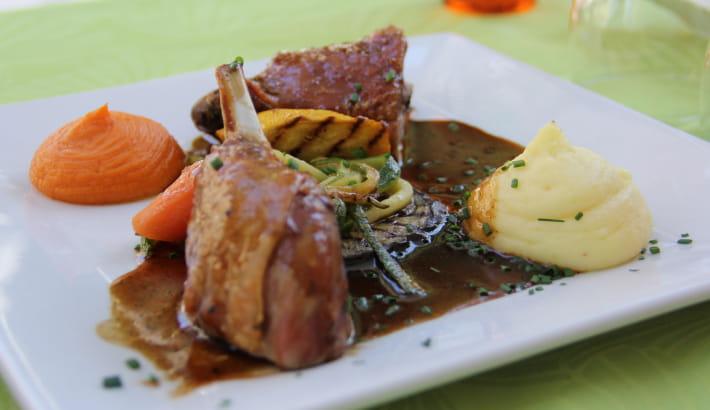 Assiette du restaurant L'Angelus, Toque Nivernaise
