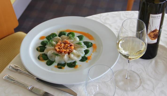 Assiette du restaurant le Coq Hardi, Toque Nivernaise