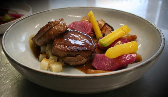 Assiette du restaurant Le Bengy, Toque Nivernaise