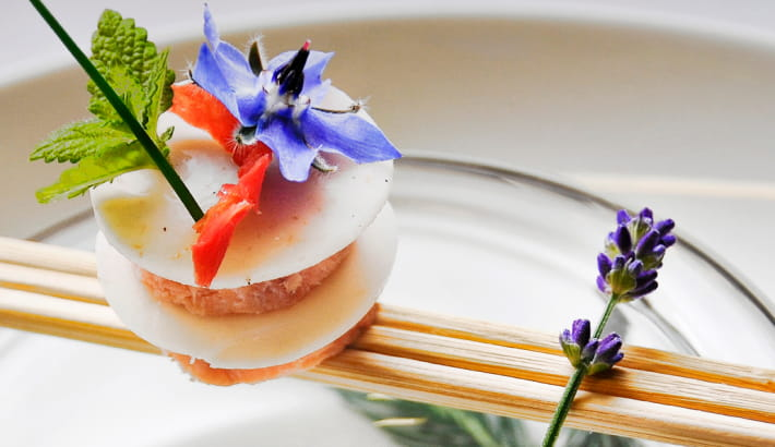 Assiette de l'hôtel restaurant du Morvan, Toque Nivernaise