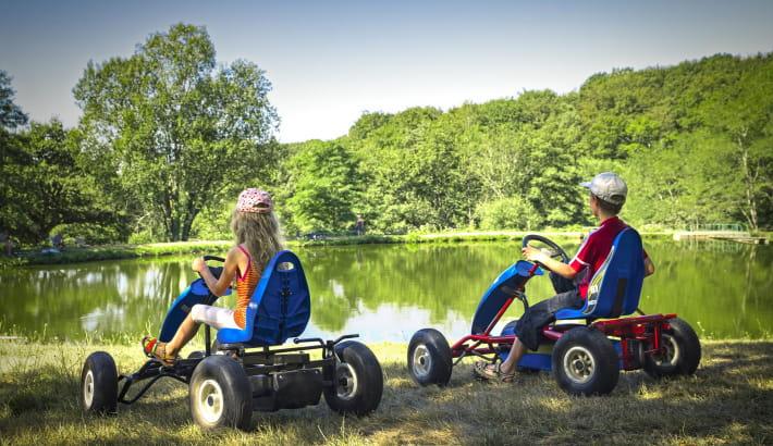 Enfants au camping de la Fougeraie