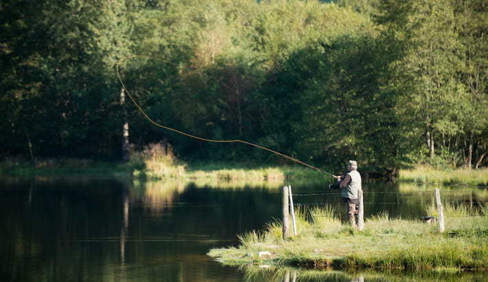 Pêche à la truite au réservoir du Châtelet