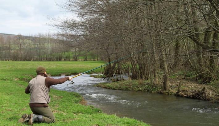 Pêche à la truite dans la Dragne