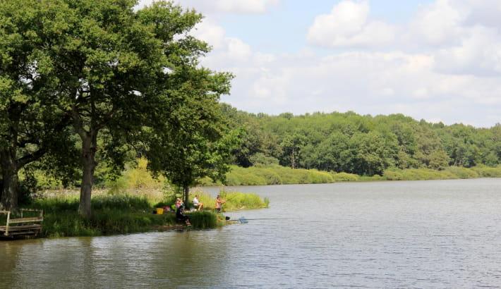 Pêche en famille sur l'étang de Vaux
