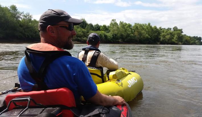Float-tube sur la Loire