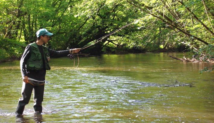 Pêcheur sur l'Yonne