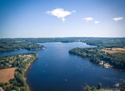 Le lac des Settons vu du ciel