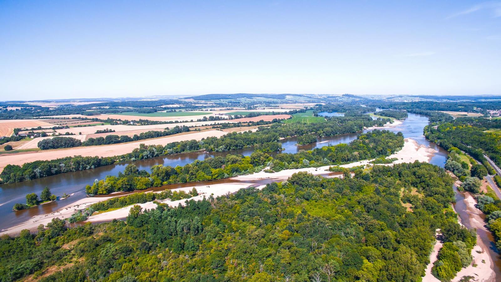 La Loire, vue aérienne