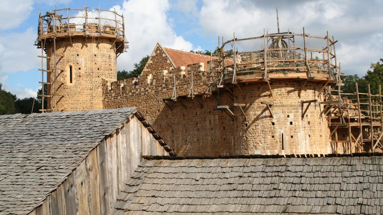 Château de Guédelon en construction