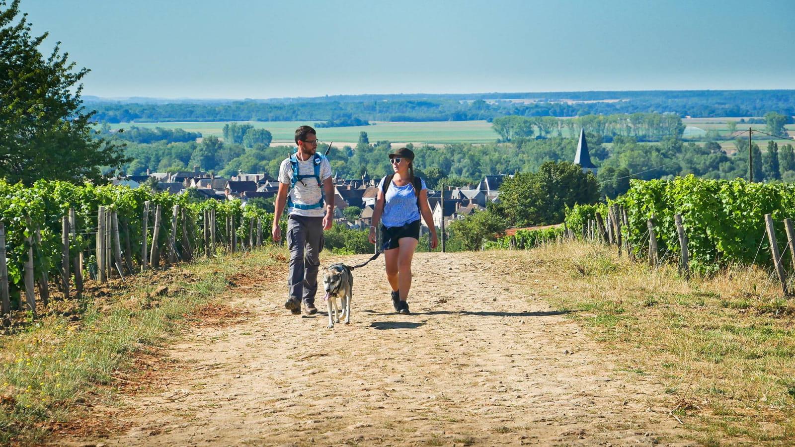 Randonneurs sur les GR de la Nièvre