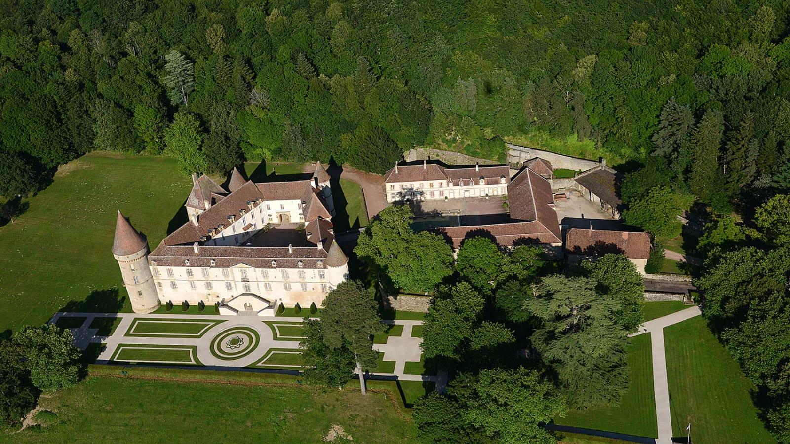 Vue aérienne du Château de Bazoches