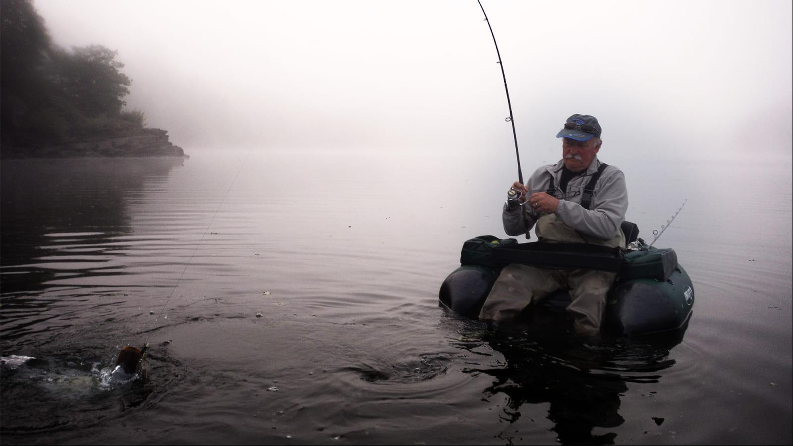 Pêche en Float-Tube dans le Morvan